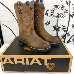 Ariat Probaby Western Riding Boots Sz 8 M Brown